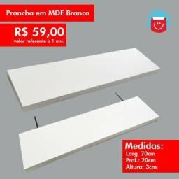 Prancha em MDF branca