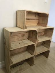 Caixas de madeira / caixotes de feira para nicho ou estante