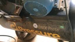 Compressor 60 Pés 425 Litros 175 Libras 15 HP Ônix Trifásico - Pressure