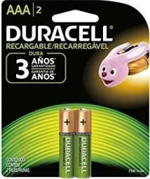 Pilha Recarregável Palito AAA Duracell, Duracell, AAA ou 750MHA