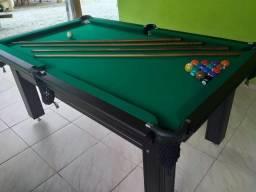 Mesa Tentação 1,93 x 1,18 Cor Tabaco Tecido Verde Mod. CZLV95MT