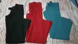 Calças socias varios tamanhos e cores,feminina.