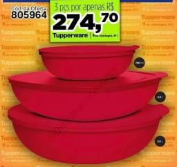 Vasilha de natal Tupperware
