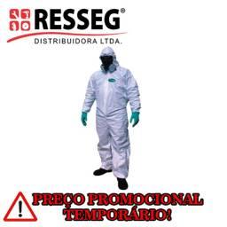 Macacão de segurança protetivo para química tamanho GG branco (SuperSafety)
