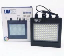 Strobo Profissional 108 Leds RGB ou Branco Estrobo com Sensor - Loja Natan Abreu