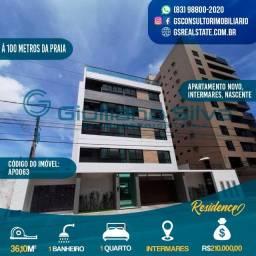 Cód: AP0063 - Apto Novo, Intermares, 36.10m², 1 Quarto, Sala de estar, wc, Cozinha.