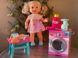 boneca little mommy comer e lavar