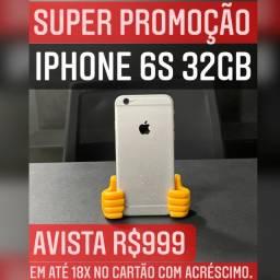 iPhone 6s 32GB, SUPER PROMOÇÃO EM ATÉ 18x NO CARTÃO COM ACRÉSCIMO.