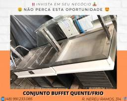 Buffet aquecido 8 cubas para lachonete ou restaurante | Matheus