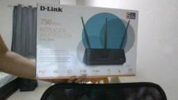 Roteador Wi-Fi D-Link DIR-819 750mbps - 3 Antenas 5 Portas. Brinde: Cabo de Rede