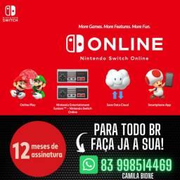 Nintendo Switch On-line 12 Meses