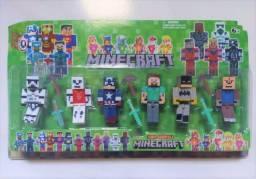 Título do anúncio: Minecraft - Kit com 6 Bonecos de Brinquedo