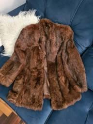Título do anúncio: Casaco de pele de raposa