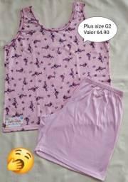 Título do anúncio: Pijama plus size regata G2