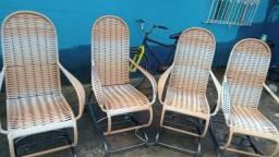 Lindas cadeiras de balanço pronta entrega