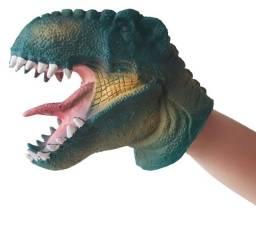 Título do anúncio: Fantoche De Dinossauro Brinquedo Tiranossauro Verde De Vinil