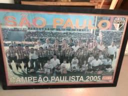 Para torcedor tricolor - quadro São Paulo FC campeão paulista 2005