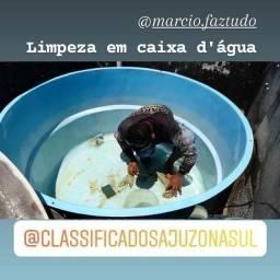 LIMPEZA EM CAIXA D'ÁGUA/ENCANADOR