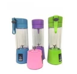 (Aceito cartão) Liquidificador Portátil Recarregável Juice Cap Shake com 6 Lâminas (Novo)