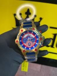 Título do anúncio: Relógio invicta Bolt capitão América novo