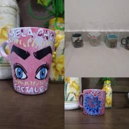Título do anúncio: Pintura em canecas de cerâmica, chopp e plastico