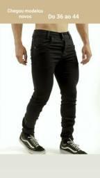 Calças jeans masculina com Lycra