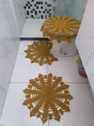 Jogo em crochê Vapt Vupt 3 peças