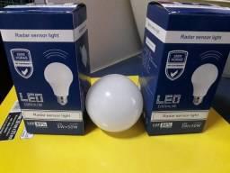 Lâmpada Led 5w C Sensor Light E27 Branco Sensor De Presença
