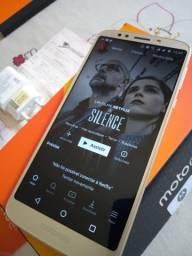 Motorola Moto E5 Platinum novo 32gb completo com nota