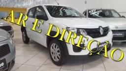 Renault Kwid 1.0 Life SCE 2018 Branco Ar e Direção Super Novo