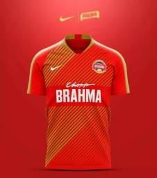 Camiseta Estampada Cerveja Brahma Estilo Futebol (P,M,G,GG)