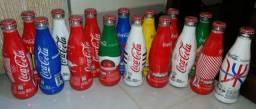 COLEÇÃO COMPLETA Garrafas Coca cola