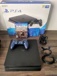 PS4 slim 1TB Days Gone + controle azul (dois controles)