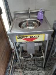 Pia lavatório inox