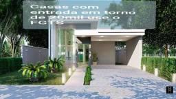 Casas em condomínio tendo tereno de 10x30 & deck e piscina há 20min do centro de messejana