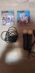 PS Move PS3 + 2 jogos