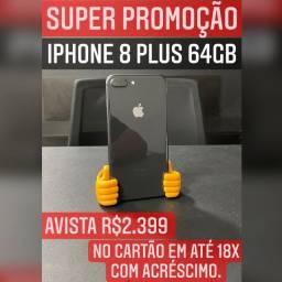 iPhone 8 Plus 64gb, aceitamos seu iPhone usado como parte do pagamento.