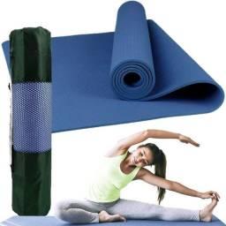 Colchonete Tapete Para Exercício Funcional Yoga - MBfit Azul