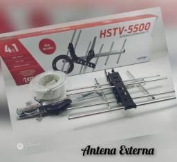 Título do anúncio: Antena Externa HSTV-5500 Com 10m De Cabo