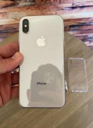 iPhone X 64gb silver - desbloqueado