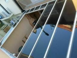 Coberturas em vidro, policarbonato, telhas trapezoidal elona