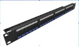 Patch Panel Multilan CAT.5E 24 Portas