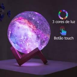 Umidificador Luminária Galaxy Nebuloso Abajur Universo 2 em 1