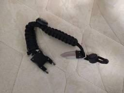 Paracord Survival Bracelet Bússola/pederneira/fogo Starter/a