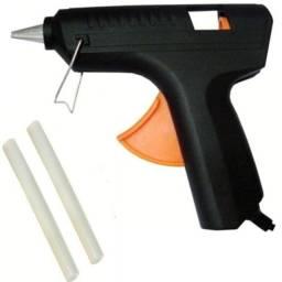 Pistola Para Cola Quente 40w Bivolt Mais 2 Bastões De Cola