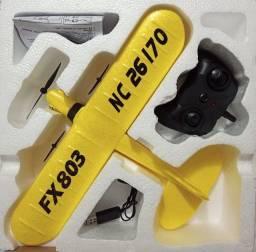 Avião FX803 NC26170 duas Baterias Amarelo.