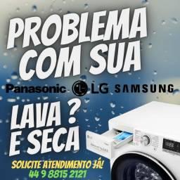 Título do anúncio: Conserto Lava e Seca LG Em Maringá 30340090