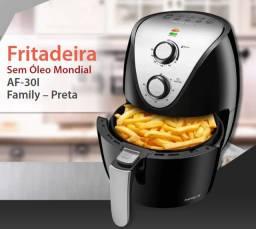 Título do anúncio: Fritadeira Sem Óleo Air Fryer Mondial AF-30 Family Inox IV 3,5l ? Preto - Fritadeiras