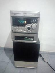 Mini System Som Toshiba com caixa de grave Philips no Cohatrac