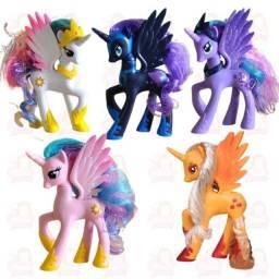 My Little Pony - Unicórnios - 5 personagens com aproximadamente 14cm
